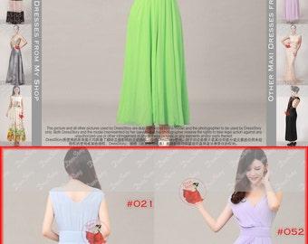 Sale! V Neck Lime Maxi Dress with Empire Waist Yoke- Lime Prom Dress - Green Evening Dress - Spring Green Prom Dress, Deep V Prom Dress  53N