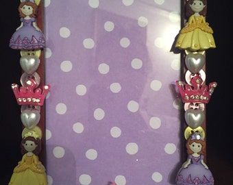 Princess and Tierras button picture Frame