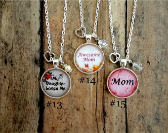 MOM, Mother's Day, Charm Necklace, Mother, gift, custom necklace, jewelry, FREE Shipping!!