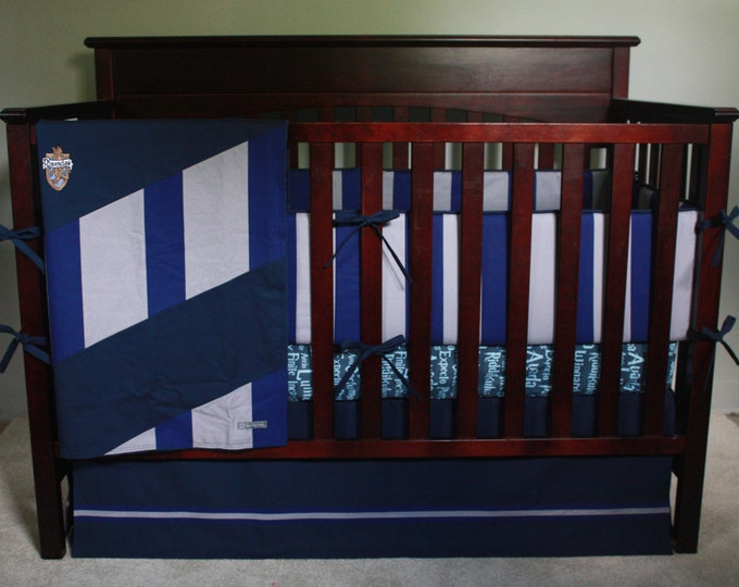 Wizard baby bedding--Blue and Silver--Banner Series-MTO