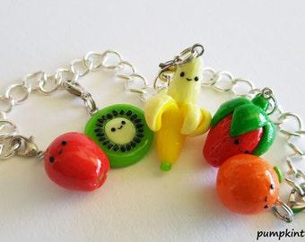 Fruit Cute Clay Charm Bracelet