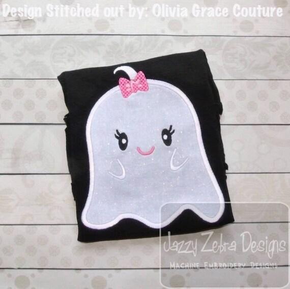 Girl Ghost 71 Appliqué embroidery Design - Halloween Appliqué Design - ghost Applique Design - girl Applique Design