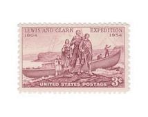 10 Unused Vintage Postage Stamps - 1954 3c Lewis and Clark Expedition - Item No. 1063 - Vintage Postage Shop