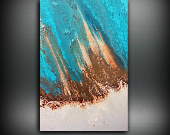 Art Painting, ORIGINAL Painting, Acrylic Painting Abstract Painting, Coastal Painting, Modern Art Large Wall Art, Coastal Home Decor 24 x 36