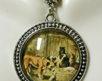 A new friiend at the pound dog pendant with chain - DAP26-006