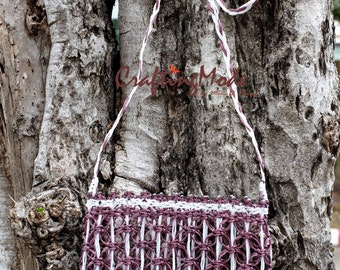 Bag,Macrame,Weaving ,Basket, Rope,Handmade,Brown and White color, ,Handbag,Tote,Natural,Women's bag.Purse,Gift ,Shoulder bag,Crossbody bag