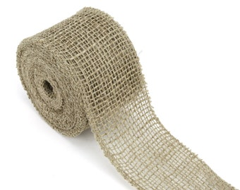"2.5"" by 10 yards burlap ribbon, great for rustic decorations, DIY, country look. Available in a variety of colors. (BRH25-xx)"
