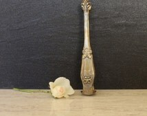 Vintage French Sugar Cube Tongs ~ Silver Plated Serving Tongs ~ Shell and Ribbon Decorated Tongs ~ Ice Cube Tongs