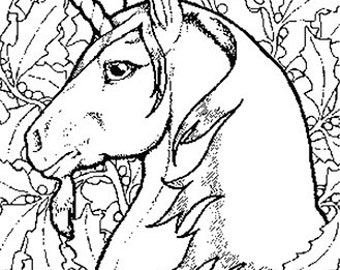 Fantasy Colouring book download 60 images to print  A4 hours of fun just 99p Unicorns fairies dragons monsters