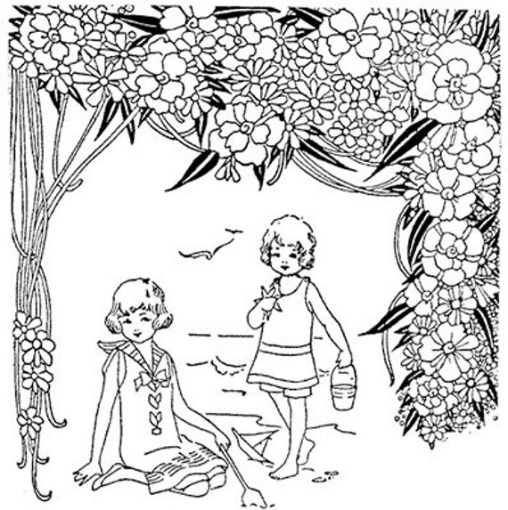 seasons holiday colouring book download printable pages Spring ...