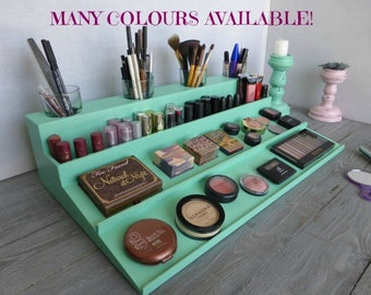 Makeup and jewelry organizers vanity mirrors by - Rangement maquillage fait maison ...