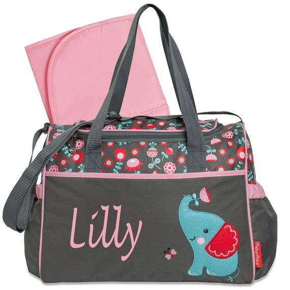 personalized elephant diaper bag bags purse by sewsassybootique. Black Bedroom Furniture Sets. Home Design Ideas