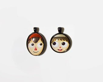 CLEARANCE Over the Garden Wall Necklaces - Cabochon Pendants