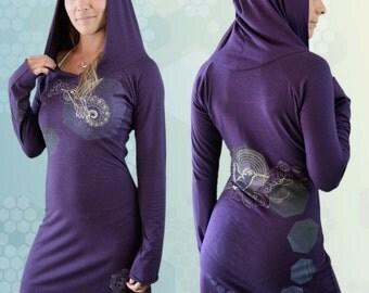 Bamboo Hooded Dress - Zunzún - Purple