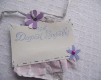 SYMPATHY Tag,GIFT Tag,Handmade PAPER Tag