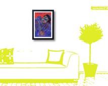 IPhone Art Drawing Digital Art Framed Print 15X20 cm Frame Monster Quality art print 10X15cm, digital drawing framed art print