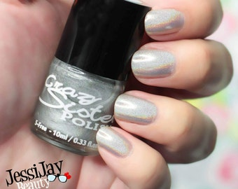 Holographic Nail Polish, Sparkle Me Silly- Holographic Glitter Top Coat Nail Polish