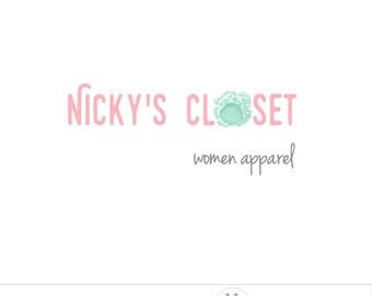 Shabby chic logo, feminine logo design, clean logo, business branding