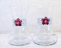 Rhinestone Wedding Vases Set of 2  Pink Flower Vases Table Decor Centerpiece Wedding Crystal Vase Bling Silver Vase Shower Hot Pink Floral