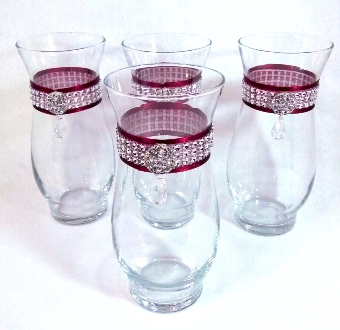 Wedding Vases Custom Rhinestone Vases Choose Colors Jeweled