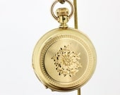Illinois Pocket Watch with Large Engraved Flower