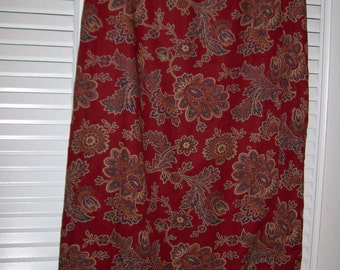Vintage Talbots Maxi Wrap or Sarong Skirt , Fall Flavor in Waiting Size 12