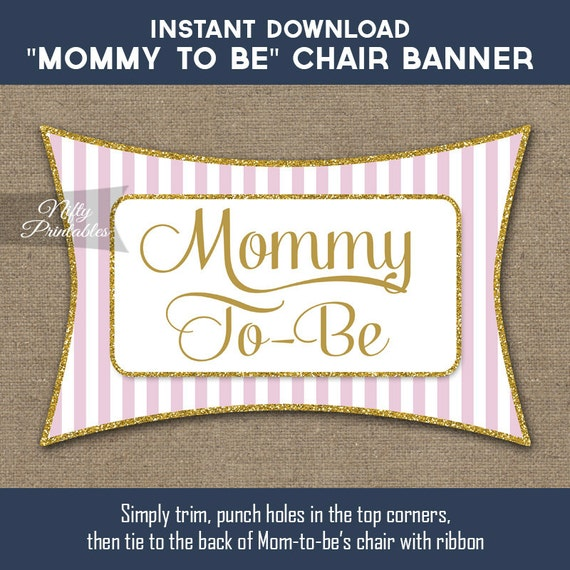 Baby Shower Chair Banner Pink Gold Baby Shower Mommy To Be