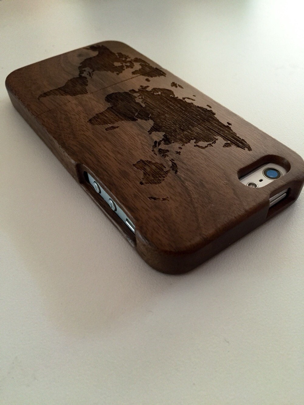 iphone wood case iphone 5 5s wood engraved world map black walnut wooden 12505