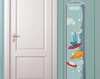 """Personalized Growth Chart """"Aliens and Spaceships"""""""