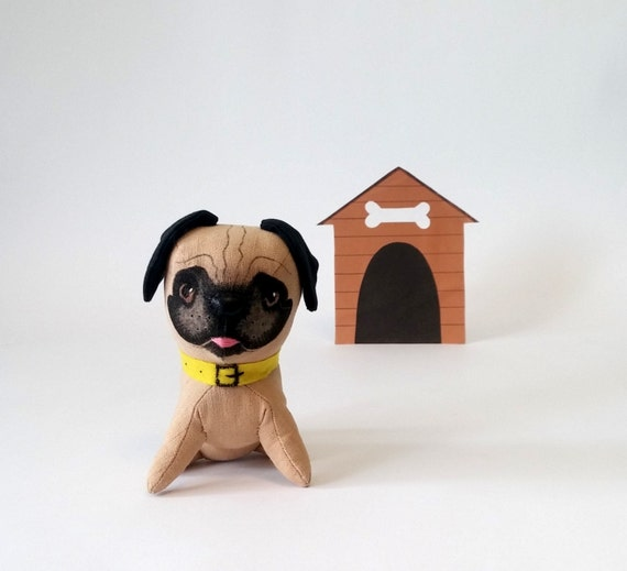 Small Toy Pugs : Plush pug stuffed dog puppy cute by zootoys