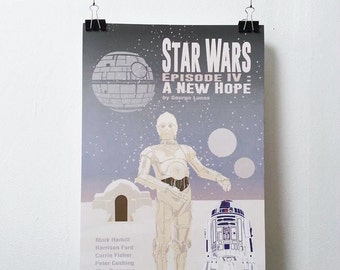 Star Wars Episode IV : A New Hope Movie Print - Poster George Lucas A3