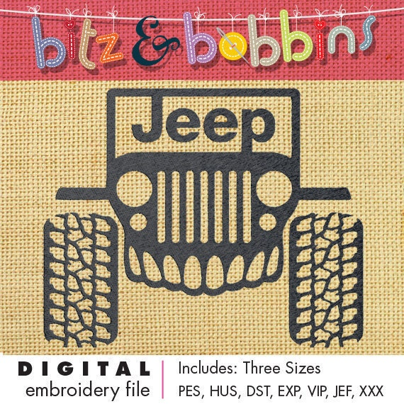 Jeep zombie edition digital embroidery design