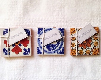 50 Mexican Spanish Tile Wedding Favors (2x2)