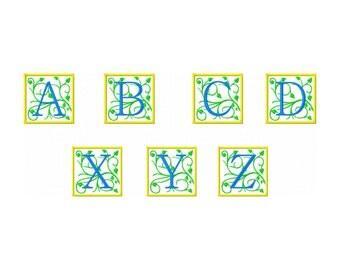 Embroidery Font Design,  Ornate applique' Monogram font set, BX included, #385