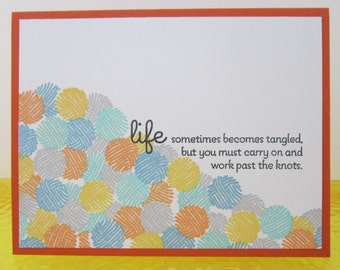 Yarn Stash Note Card, Orange