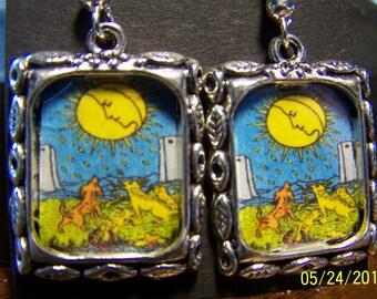 The Moon Tarot Card Earrings