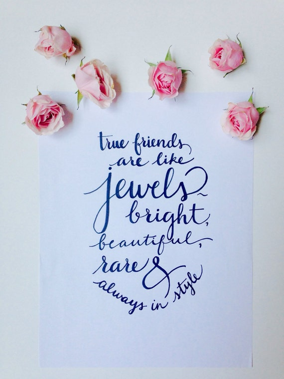 Calligraphy For Friendship Best Friends Calligraphy Quote Hand