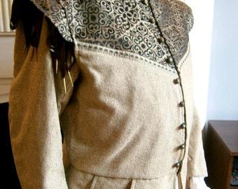 Renaissance Doublet, Elizabethan Jerkin, Mens Doublet, size XXL