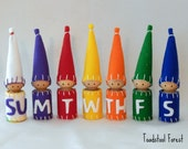 Waldorf Days of the Week Peg Gnomes ~Set of 7 ~ Rainbow Day Gnomes ~ Calendar Days ~ Educational Toy ~ Circle Time