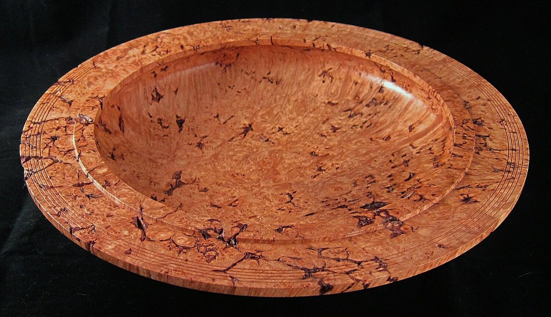 Maple burl centerpiece wood bowl wooden fine woodworking