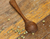 Hand-carved, solid teak, salt/spice or (imprecise) measuring spoon