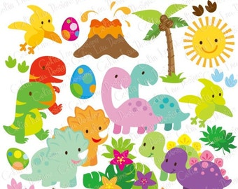 Dinosaur clipart – Etsy