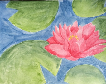 Lotus with Lily pads
