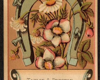 19th C. Trade Card, Taylor & Preston Photographers Salem, Massachusetts no.2