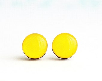 Yellow stud , yellow earring , sun yellow stud , summer stud , sun stud , yellow post , sun yellow post , deep yellow stud , deep yellow pos