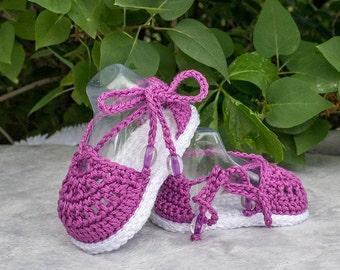 Crochet Sandals, Crochet Baby Girl Sandals, Crochet Baby Girl Booties, Crochet Baby Shoes, Summer Shoes, Spring Shoes, Espadrille sandals