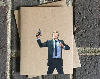 Marvel - Avengers / SHEILD Agent Coulson  Comic Book Greeting Card (Blank)