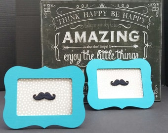 Mustachioed Picture Frames