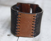 Wide Leather Cuff Bracelet, Upcycled Leather Bracelet, Leather Belt Bracelet, Womens Leather Bracelet, Mens Leather Bracelet