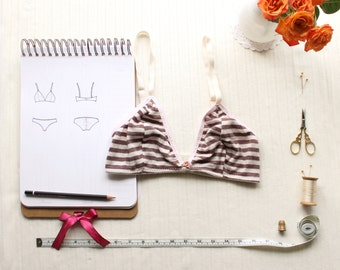 Bra Sewing Pattern Ohhh Lulu 1306 Brigette Triangle Bra PDF Instant Download